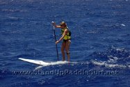 Morgan Hoesterey at the Molokai SUP Race