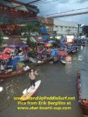 SUP in Thailand Floating Market