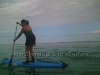 First Time SUP Stand Up - Carissa and Tishya at Ala Moana