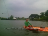 Windsurfing the Starboard Super 12-6 SUP at Lake Bung Taco in Bangkok Thailand