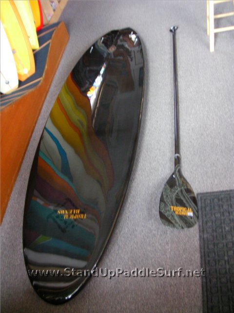 Tropical Blends Carbon Sup Board And Paddle At Stand Up