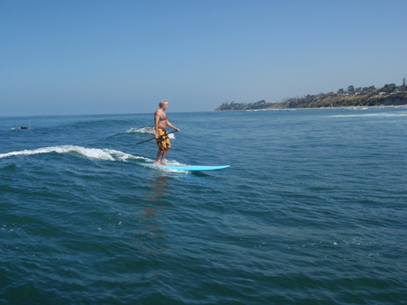 Stand Up Paddle Surfing at Cardiff reef
