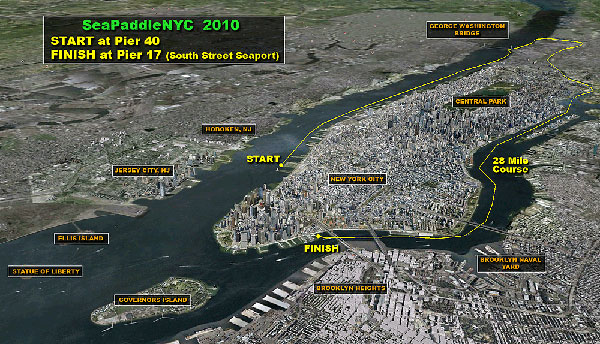 SEA Paddle NYC course